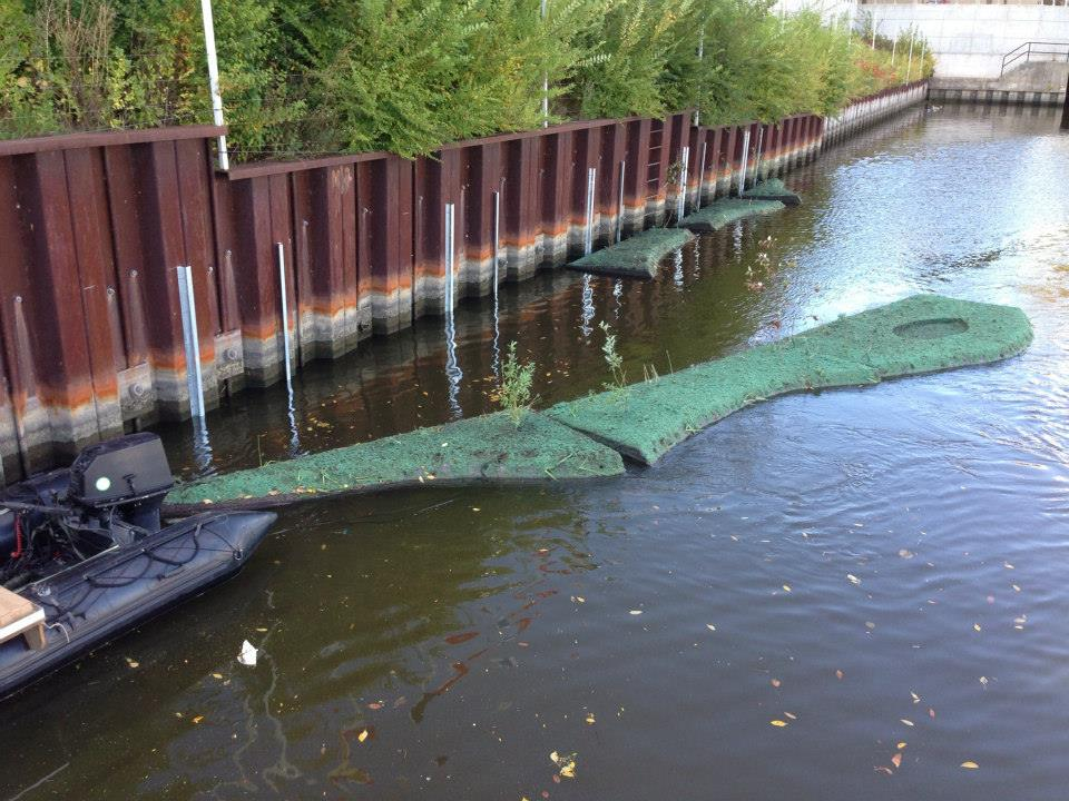 Floating islands in milwaukee river estuary for improved for Milwaukee river fishing